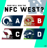 Memes, 🤖, and Nfc: WHO WILL WIN THE  NFC WEST?  tg. Who will win the NFC West? 🤔 https://t.co/cUQsdQIQjN