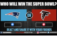 Super Bowl: WHO WILL WIN THE SUPER BOWL  REACTAND SHARE ITWITH YOUR FRIENDS  CH POInTS O  f ICLUTCHPOINTS  aCLUTCHPOINTSAPPY actUTCHPOINTSAPP