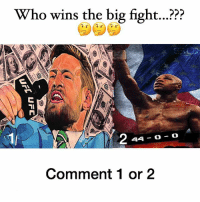 Anaconda, Memes, and Tomorrow: Who wins the big fight...?  44-O O  Comment 1 or 2 Who do you have winning ...? 🤔🤔🤔 💸💸💸 Giving $100 to a ton of lucky ppl. To win is simple 😊 - 1️⃣ Follow @loaded.8s DOWNLOAD their app. 2️⃣ Message @loaded.8s with the screenshot that you've downloaded their app 3️⃣ Comment 🙌🏻🙌🏻🙌🏻 and tag @loaded.8s when you are ✅ 🤑🤑🤑 Winners will be announced @loaded.8s before the big fight tomorrow 💸💸💸