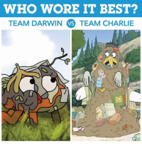 Who's rocking this hot new look better? 😂🤢 WeBareBears gumball: WHO WORE IT BEST?  TEAM DARWIN VS TEAM CHARLIE  32 Who's rocking this hot new look better? 😂🤢 WeBareBears gumball