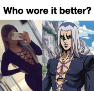 Who Wore It Better, Who, and Interesting: Who wore it better? An interesting title