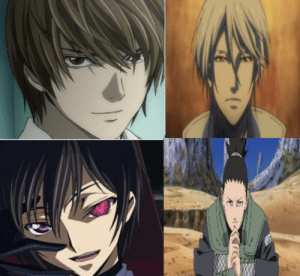 who would triumph in a fight between these 4? (Light from deathnote, shogo makishima from psychopass, lelouch from code geass, and shikimaru from naruto) Round 1: no one gets any powers, thry can only use their intellect. Round 2: everyone gets their abilities, makishima gets an army.: who would triumph in a fight between these 4? (Light from deathnote, shogo makishima from psychopass, lelouch from code geass, and shikimaru from naruto) Round 1: no one gets any powers, thry can only use their intellect. Round 2: everyone gets their abilities, makishima gets an army.