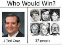 Ted Cruz: Who Would Win?  1 Ted Cruz  37 people