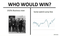 "Memes, Weird, and Business: WHO WOULD WIN?  1929s Business men  Some weird curvy line  @ltsOpaz <p>Great Depression memes on the rise, buy now! via /r/MemeEconomy <a href=""http://ift.tt/2nHdswB"">http://ift.tt/2nHdswB</a></p>"
