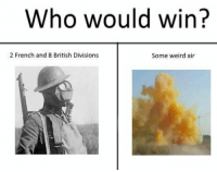 Weird, British, and French: Who would win?  2 French and 8 British Divisions  Some weird air Hurrah to Industrialization https://t.co/fafrtps7Y6