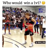 Tag someone you'd beat in a 1v1 😯👀 - Follow @ballcrosses for more!: Who would win a 1v1?  ALL LIFE  BALLIS Tag someone you'd beat in a 1v1 😯👀 - Follow @ballcrosses for more!