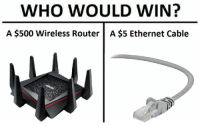 Wired Master Race: WHO WOULD WIN?  A $500 Wireless Router |A $5 Ethernet Cable Wired Master Race