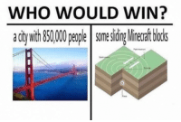 Who Would Win: WHO WOULD WIN?  acitywith850,000people somesiding Minecraft blocks