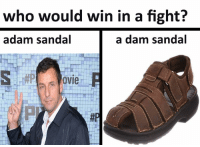 who would win in a fight?  adam sandal  a dam sandal  OVI ~ sauceboss
