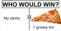 Greasy, Boi, and Who: WHO WOULD WIN?  My sanity  VS  1 greasy boi