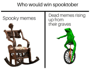 Who Would Win: Who would win spooktober  Dead memes rising  up from  their graves  Spooky memes