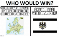 Who Would Win: WHO WOULD WIN?  THEENTIRE WESTERN HALF OEENGIER  OFTHEMOST DEVELOPED  CONTINENTONTEPLANET MIDDDISCIFHNE  Europa /  94765782