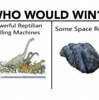 Memes, Shit, and Space: WHO WOULD WIN  werful Reptilian  Some Space R  ling Machines Space rock can't do shit