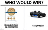 """<p>Exams incoming via /r/dank_meme <a href=""""http://ift.tt/2zYJ1oq"""">http://ift.tt/2zYJ1oq</a></p>: WHO WOULD WIN?  WILEY  Hours of studying  for good grades  One glowy boi  imgilip.com <p>Exams incoming via /r/dank_meme <a href=""""http://ift.tt/2zYJ1oq"""">http://ift.tt/2zYJ1oq</a></p>"""