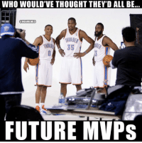 Future, Nba, and Lost: WHO WOULD'VE THOUGHT THEY'D ALL BE  @NBAMEMES  AUNOER  35  FUTURE MVPs Still lost for words. 😳😶
