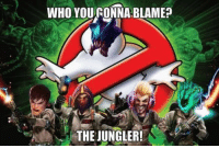 Who you gonna blame?!: WHO YOURONNA BLAME?  THE JUNGLER! Who you gonna blame?!
