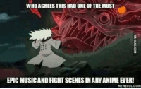 Memes, Music, and 🤖: WHOAGREESTHIS HADONE OF THE MOST  EPIC MUSICANDFIGHTSCENESINANYANIME VER!  HEHEFULCOM That background music tho! <3 ~Might Guy