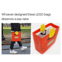 Lego, Memes, and Genius: Whoever designed these LEGO bags  deserves a pay raise  LEGO Genius! 😂
