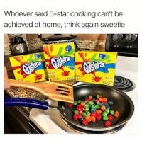 WATCHES TOP CHEF ONCE (@therealgushers) BONE APPLE TEA! ad: Whoever said 5-star cooking can't be  achieved at home, think again sweetie WATCHES TOP CHEF ONCE (@therealgushers) BONE APPLE TEA! ad