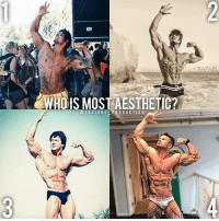 Clothes, Facebook, and Gym: WHOIS MOST AESTHETIC?  I G LEGION S PRODUCTION  UIS RAFAEL 🔥😳🤔WHO IS MOST AESTHETIC? Founder 👉: @king_khieu. 1? 2? 3? or 4? Why? Rank them in order. Vote 👇 below! Thoughts? 🤔 What do you guys think? COMMENT BELOW! Athletes. 1 - @zyzz_page. 2 - @jeff_seid. 3 - @officialfrankzane. 4 - @tomocoleman. TAG SOMEONE who needs to lift! _________________ Looking for unique gym clothes? Use our 10% discount code: LEGIONS10🔑 on Ape Athletics 🦍 fitness apparel! The link is in our 👆 bio! _________________ Principal 🔥 account: @fitness_legions. Facebook ✅ page: Legions Production. @legions_production🏆🏆🏆.