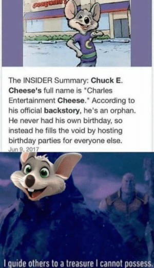 Wholesome cause of Chuck e cheese: Wholesome cause of Chuck e cheese
