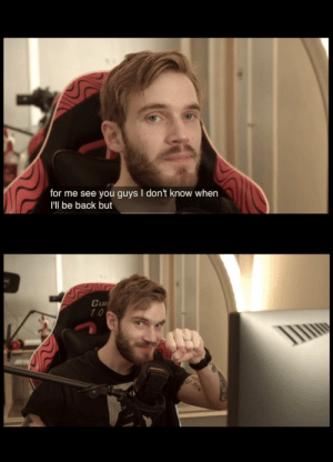 *Wholesome content* Thank you Felix for all the memories so far, I'll never forget the times my friends and I spent watching your videos since 2010. Enjoy your break, we'll be here when you get back; brofist. -❤️an original 9yr old: *Wholesome content* Thank you Felix for all the memories so far, I'll never forget the times my friends and I spent watching your videos since 2010. Enjoy your break, we'll be here when you get back; brofist. -❤️an original 9yr old