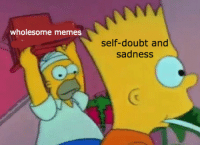 Memes, Wholesome, and Doubt: wholesome memes  self-doubt and  sadness
