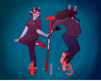Bodies , Target, and Tumblr: whoneedsalifeineedalife:  413 drawing for @paperandpencilsandskips! He requested Terezi ships so I attempted to answer his call.Anyways its supposed to look like their bodies are a 413 but I think its too hard to see rip