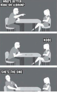 Nba, Kobe, and She's the One: WHO'S BETTER  KOBE OR LEBRONP  NBAMEMES  SHES THE ONE  KOBE Meeting your friend's new girlfriend for the first time.