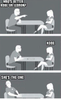 Meeting your friend's new girlfriend for the first time.: WHOS BETTER  KOBELORILEBRON2  ONBAMEMES  SHES THE ONE  KOBE Meeting your friend's new girlfriend for the first time.