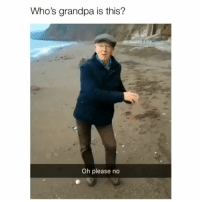 Memes, Grandpa, and 🤖: Who's grandpa is this?  Oh please no At least he tried 😂 Credit: @thebackpackkid