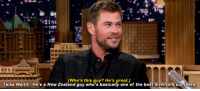 Chris Hemsworth, Haircut, and Tumblr: [Who's this guy? He's great.]  Taika Waititi. He's a New Zealand guy who's basically one of the best directors out there justin-taylor:Chris Hemsworth Explains Thor's Unexpected Ragnarok Haircut