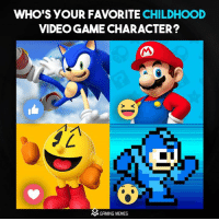 Video Games, Game, and Games: WHO'S YOUR FAVORITE  CHILDHOOD  VIDEOGAME CHARACTER?  M GAMING MEMES Name it