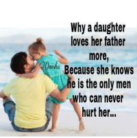 Memes, She Knows, and 🤖: Why a daughter  loves her father  more  Because she knows  he is the only men  who can never  hurt her...