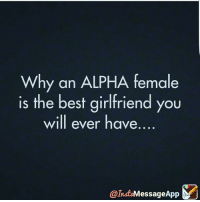 Memes, Best, and Girlfriend: Why an ALPHA female  is the best girlfriend you  will ever have  essage App