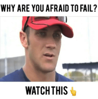 """Baseball, Fail, and Memes: WHY ARE YOU AFRAID TO FAIL?  WATCH THIS 