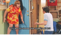 Queen Latifah, Memes, and 🤖: Why are you dressed like Queen Latifah? http://t.co/0OuITtKIQA