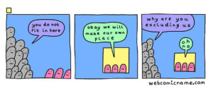 Boston, Okay, and Aaa: why are you  excluding  you do not  Fit in here  okay  make our own  PLace  we will  AAA  webcomicname.com @ Boston Straight Pride
