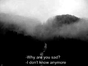 Sad, Why, and You: Why are you sad?  -I don't know anymore