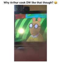 Arthur, Funny, and Lmao: Why Arthur cook DW like that though? Lmao bringing this back