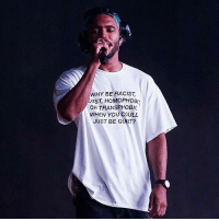 "Hypebeast, Memes, and Music: WHY BE RACIST,  XIST, HOMOPHO8I  OR TRANSPHOBIC  WHEN YOU COULD  JUST BE QUIET? 💯👏🏾 FrankOcean performing on stage at Panorama Music Festival in NYC wearing a t-shirt that reads ""WHY BE RACIST, SEXIST, HOMOPHOBIC, OR TRANSPHOBIC WHEN YOU COULD JUST BE QUIET?"" - • Repost @womensmarch - 📷: lord_edwin - @HYPEBEAST, @greenboxshop_"