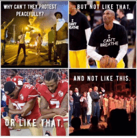 The privilege of bitching because these issues don't affect you.: WHY CAN'T THEY PROTEST  BUT NOT LIKE THAT  PEACEFULLY?  C  PANT  REATHE  BREATHE  AND NOT LIKE THIS  OR LIKE THAT, The privilege of bitching because these issues don't affect you.
