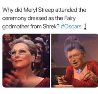 "<p>The resemblance is uncanny via /r/memes <a href=""http://ift.tt/2FSEJD5"">http://ift.tt/2FSEJD5</a></p>: Why did Meryl Streep attended the  ceremony dressed as the Fairy  godmother from Shrek? #Oscars l <p>The resemblance is uncanny via /r/memes <a href=""http://ift.tt/2FSEJD5"">http://ift.tt/2FSEJD5</a></p>"
