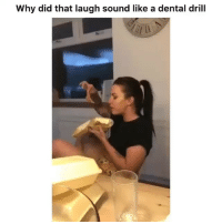 Friends, Memes, and 🤖: Why did that laugh sound like a dental drill Dm to 5 friends for a shoutout!