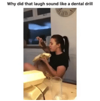 Memes, 🤖, and Sound: Why did that laugh sound like a dental drill Follow @comediic for more😂😂 - Credit: Unknown (DM for credit)