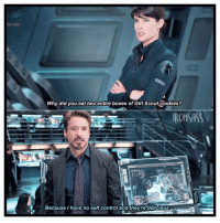 ; I just ate an entire box of Tagalongs someone needs to stop me - ≫ tonystark robertdowneyjr ironman marvel girlscoutcookies: Why did you eat two entire boxes of Girl Scout Cookies?  IRONSASS  Because I have no self control and they're delicious. ; I just ate an entire box of Tagalongs someone needs to stop me - ≫ tonystark robertdowneyjr ironman marvel girlscoutcookies