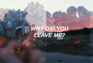 Why, Did, and You: WHY DID YOU  LEAVE ME? What did I do wrong?