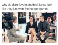 "Demi Lovato, The Hunger Games, and Omg: why do demi lovato and nick jonas look  like they just won the hunger games <p><a href=""http://plvntdick.tumblr.com/post/156841418385/bitchycode-omg"" class=""tumblr_blog"" target=""_blank"">plvntdick</a>:</p> <blockquote> <p><a class=""tumblr_blog"" href=""http://bitchycode.tumblr.com/post/148636186868"" target=""_blank"">bitchycode</a>:</p> <blockquote> <p>omg</p> </blockquote>  <p>Demi volunteered to save her sister Poot, during the reaping</p> </blockquote>"