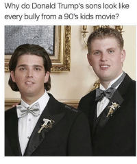10/10 for accuracy 👏🏼👏🏼: Why do Donald Trump's sons look like  every bully from a 90's kids movie?  oa 10/10 for accuracy 👏🏼👏🏼