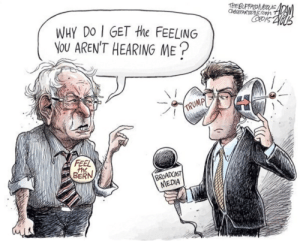 Fuck the corporate media: WHY DO GET the FEELING  NOU AREN'T HEARING ME  he  BERN  NEDIA Fuck the corporate media